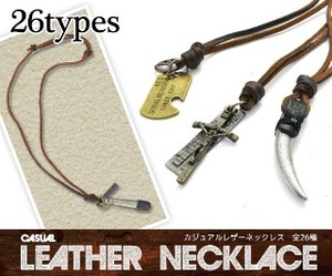 Production Genuine Leather Use Leather Necklace