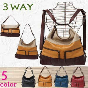 Shoulder Bag 3WAY Backpack Cow Leather