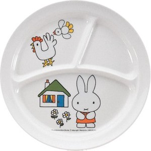 【 MIFFY】 CM-65 MIFFY ROUND LUNCH PLATE kids melamine plate