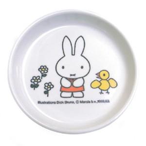 【miffy】ミッフィー 小皿 メラミン キッズプレート スモール(おしょうゆ皿や小物トレーにも♪)