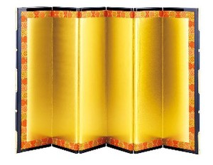 Folding Screen Geisyun Japanese Craft Fancy Goods Ornament
