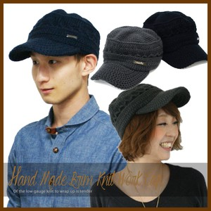 Military Cap Hats & Cap Hand Maid Knitted Cap