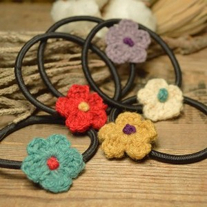 Hand Maid Cotton Flower Hair Elastic 5 Colors Retro Style