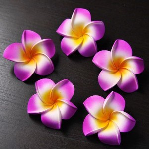 Frangipani Sponge Artificial Flower Purple