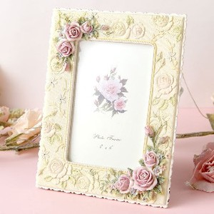 Rose Photo Frame Ivory