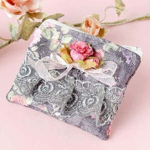 Rose Tissue Case Pouch Gray Base