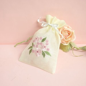 Rose Embroidery Pouch