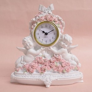Rose Angel Clock