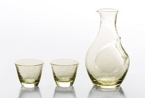 "[Made in Japan] ""Takasegawa"" Sake Set Glasses Sake Carafe with 2 Sake Cups"