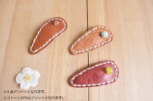 Leather Motif Hair Clip