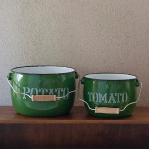 Round Bucket 2Pcs set Green
