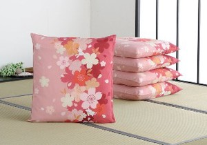 Floor Cushion Cover Sakura Meisen 5 Pcs Japanese Pattern Rabbit Meisen
