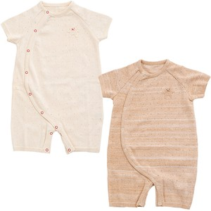 Organic Knitted Short Sleeve Rompers