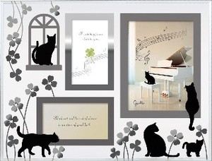 Cat Glass Photo Frame