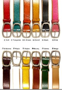 Colorful 12 Colors Design Usability Genuine Leather Leather Men's Belt