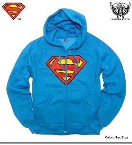 Super Knitted Amekomi Super Mark Print Collaboration Raised Back Hoody