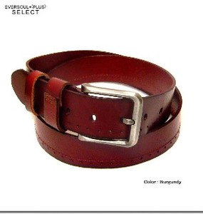 Design Punching Accent Genuine Leather Leather Belt