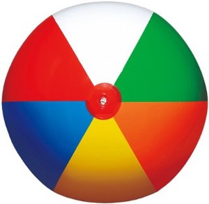Beach Ball 6 Colors Plain Ball