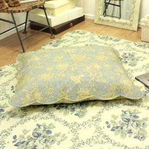 Cotton Quilt Floor Cushion Cover Turquoise Series