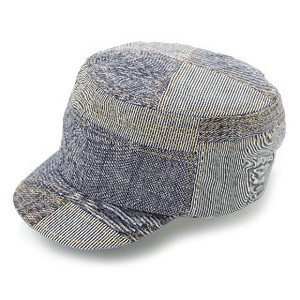 Ladies Men's Petit Hickory Pattern Military Cap