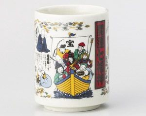 Good Luck Seven Deities Of Good Luck Sushi Japanese Tea Cup
