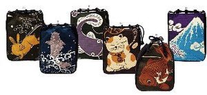 Amulet Shingen Bag Beckoning cat Mt. Fuji Japanese Pattern Carrier-Bag Japan Bag