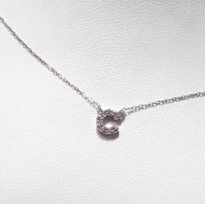 White Gold Adult Diamond Initial Pendant