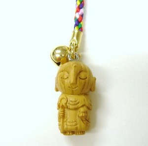 Jizo Cell Phone Charm Wood Grain