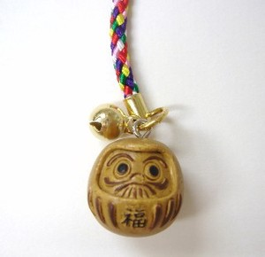5 Pcs 30 Pcs Set Daruma Cell Phone Charm Wood Grain