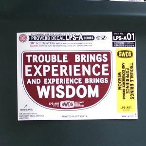 LPS-A001/TROUBLE BRINGS EXPERIENCE/コトワザ2P シートステッカー