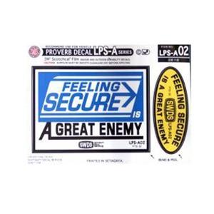 LPS-A002/FEELING SECURE/コトワザ2P シートステッカー