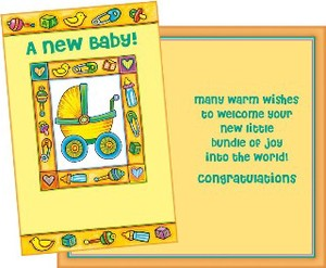 Greeting Card Birth Baby Toy