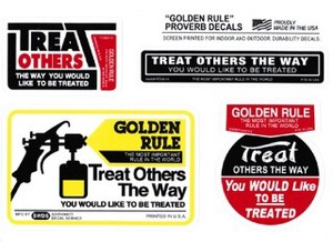 PCDS01S/TREAT OTHERS THE WAY/PROVERB DECALS