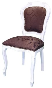 Dining Chair Antique Brown Fabric