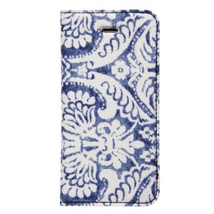 Denim Paisley Diary Genuine Leather Denim