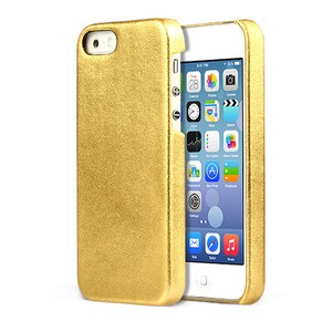 iPhone Case Gold Genuine Leather Type