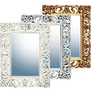 Gray Art Mirror Decorative Polyurethane