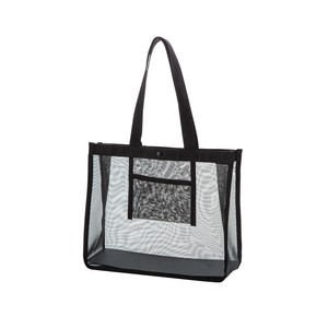 Mesh Bag Transparency Vinyl Bag Button Attached