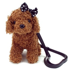 Mini Pochette Shoulder Purse / Toy Poodle Black Ribbon (Plush / Stuffed Toy)