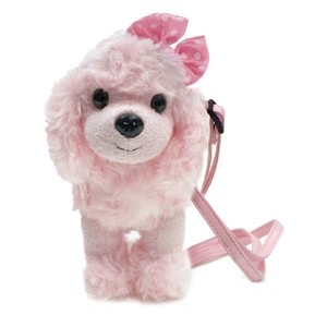 Adorable poodle shaped mini purse / Mini Pochette Pink Poodle / Pink