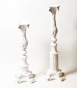 Candle Stand Candle Stand Up White Antique European