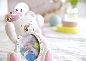 Baby Photo Frame White Pink