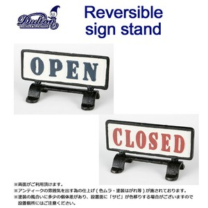 REVERSIBLE SIGN STAND OPEN-CLOSED