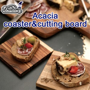 ACACIA COASTER & CUTTING BOARD