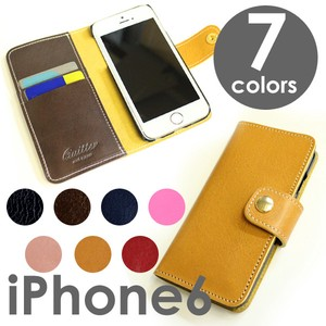 Genuine Leather 6 Colors Notebook Type Case Made in Japan