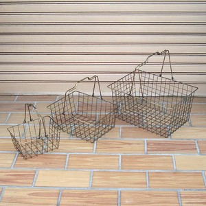 Handle Basket Bronze Color