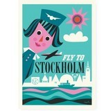 【OMM design】ポスター Sweden OMM Gallery Fly to Stockholm