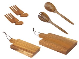 Big Acacia Salad Hand Salad Set Cutting Board