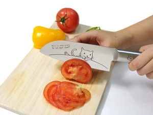cat Cat Syo-santoku Knife All Stainless Net Topic