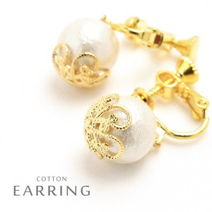 Cotton Pearl Earring Local Finish Standard
